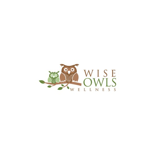 Create a WOW logo for our male and female wellness owls