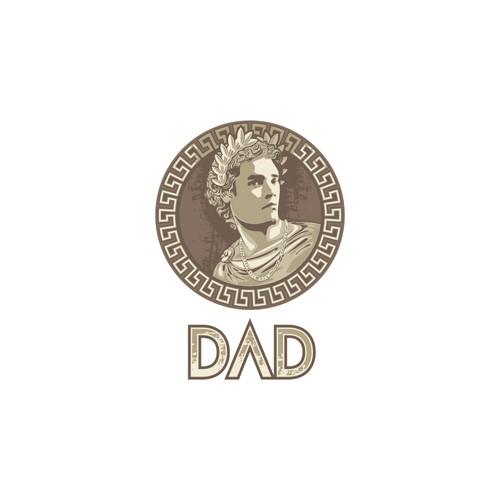 King/Greek god logo