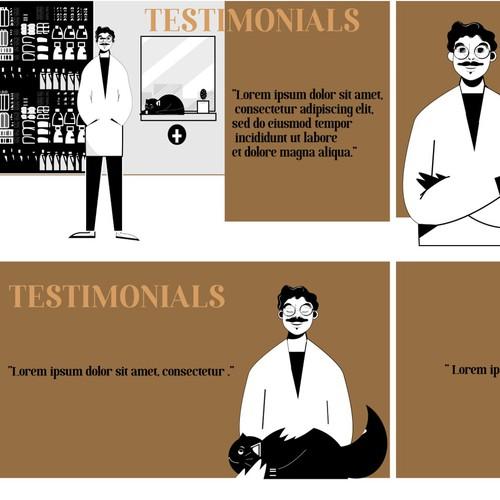illustrations for a pharma
