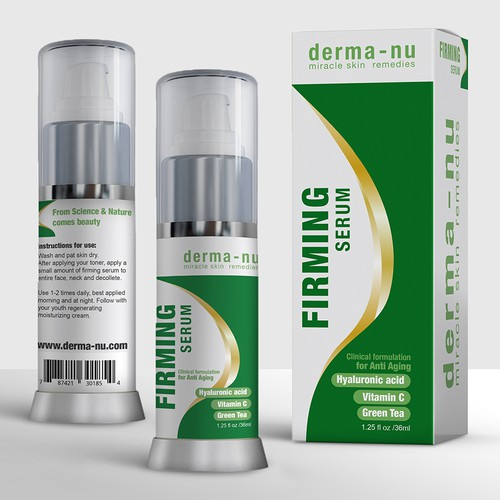 firming serum, cosmetic packaging