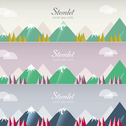 "16:3 ""Digital"" Mountain/Forest scenery"