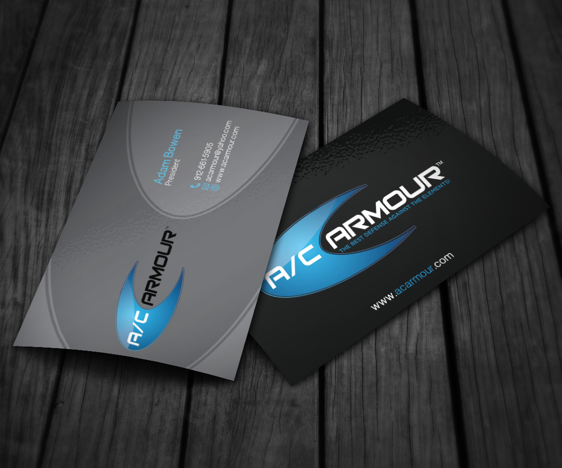 Create a Eye Catching business card for A/C ARMOUR