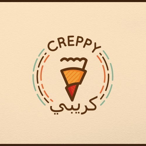 Logo design concept for Crepe company.
