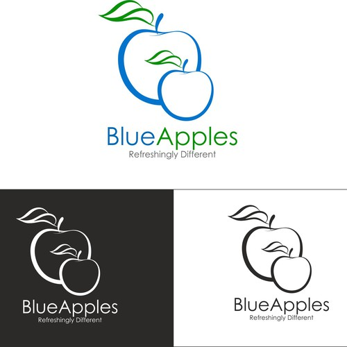 Create a Refreshingly Different logo for Blue Apples!
