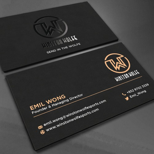 New business card design for a boutique sports agency