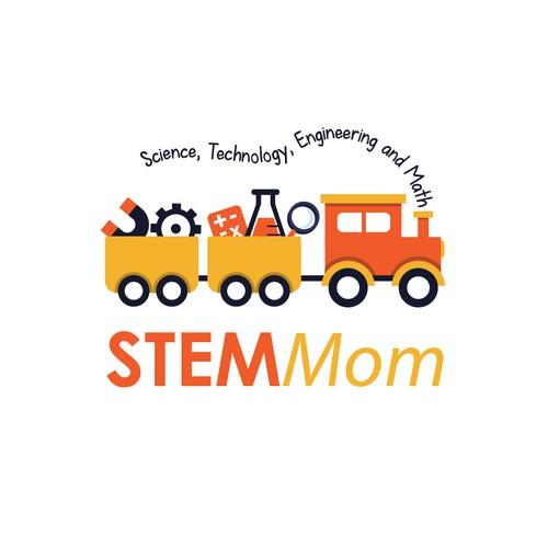 Create a logo for STEM Mom. Help parents teach their kids science, techology, math through play!