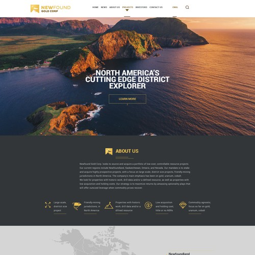 Gold Mining Company Website