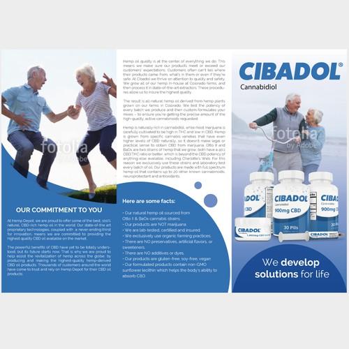 Brochure for Cibadol - High CBD Hemp Oil Products
