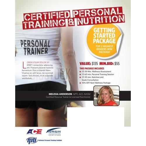 Flyer for fitness center