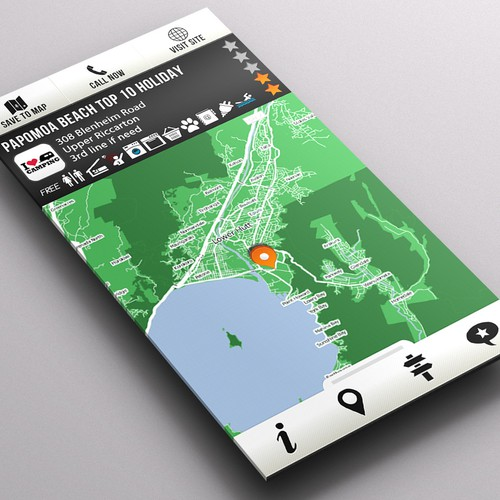NZ Travel Atlas Android app design