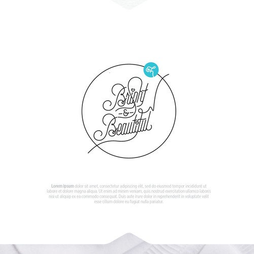 Logo & brand identity pack for 'Bright & Beautiful'