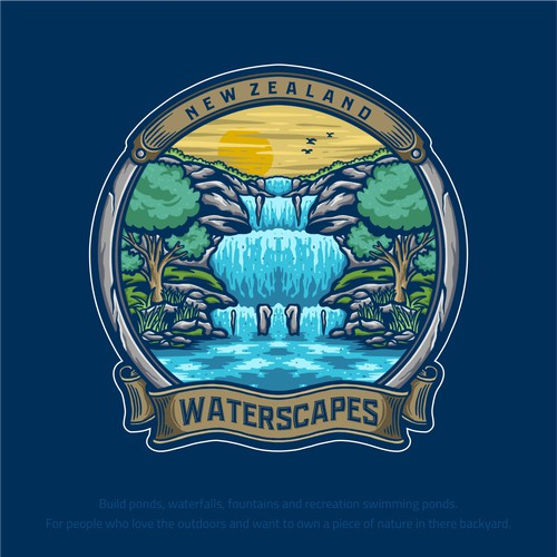 Logo design needed for a creative pond & waterfall builder