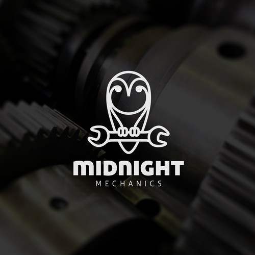 Creative logo for Midnight Mechanics