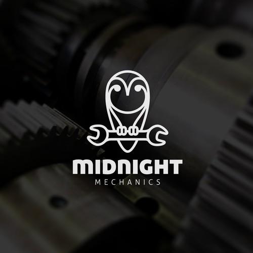 Creative logo for Midnight Mechanics