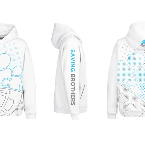 Hoodie design concept for Saving Brothers