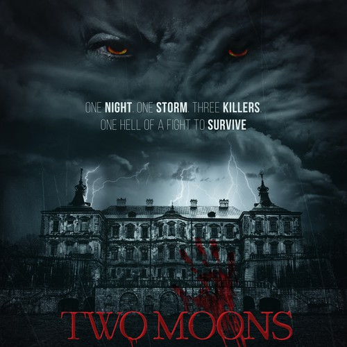Horror movie poster: TWO MOONS