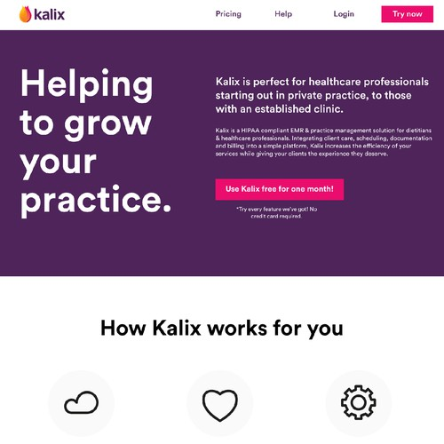 A bold and color full Website for a software company