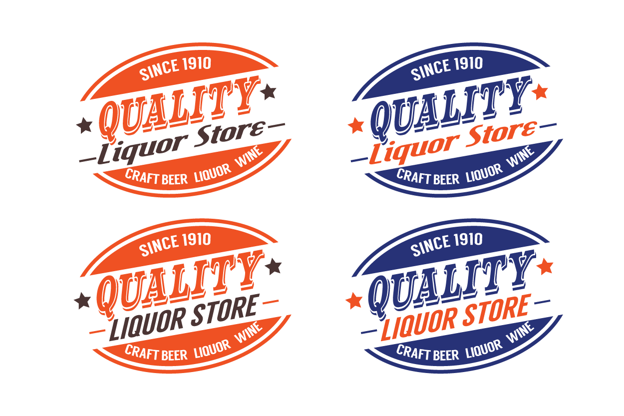 Create a brand logo that could be as big as 7 Eleven. Design a unique logo for Quality Liquor Store