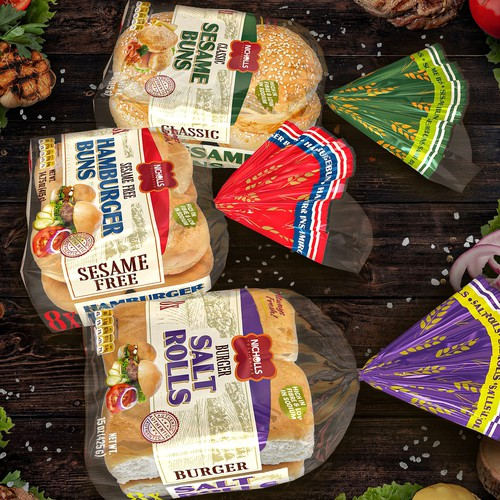 Packaging for white bread set