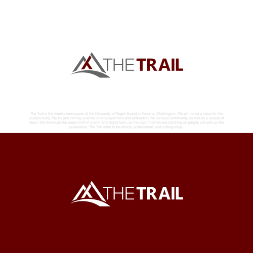 Bold logo concept for the trail
