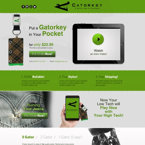 Website design for www.gatorkey.com