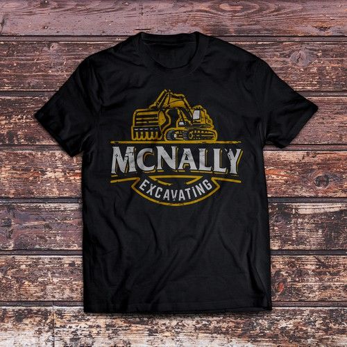 Create a Vintage T-Shirt Design for an Excavating