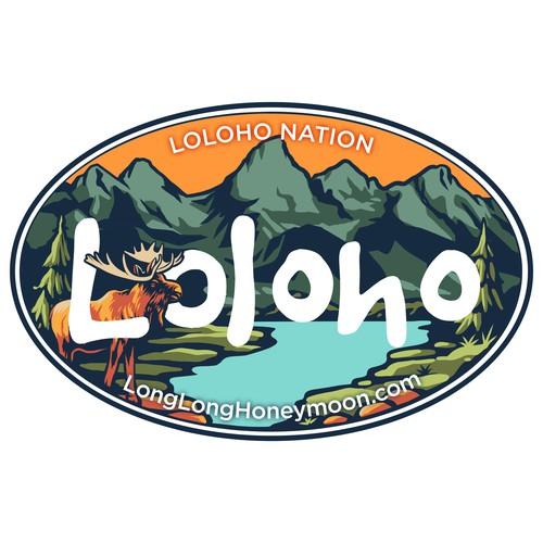 Loloho sticker design