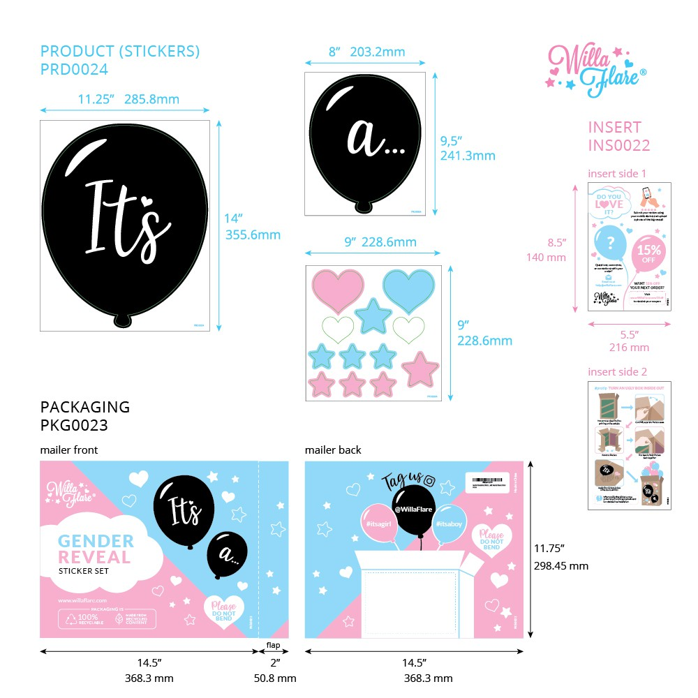 Update Gender Reveal Box Stickers Digital Resources with Version IDs