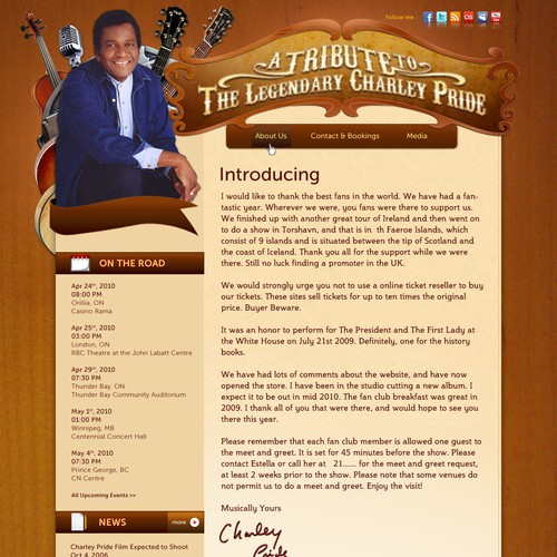 Charley Pride Website