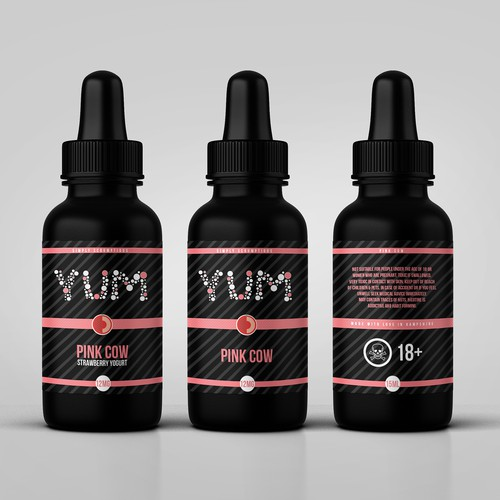 YUM eliquid label