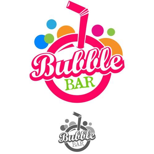 Create a fresh new logo for a bubble tea shop