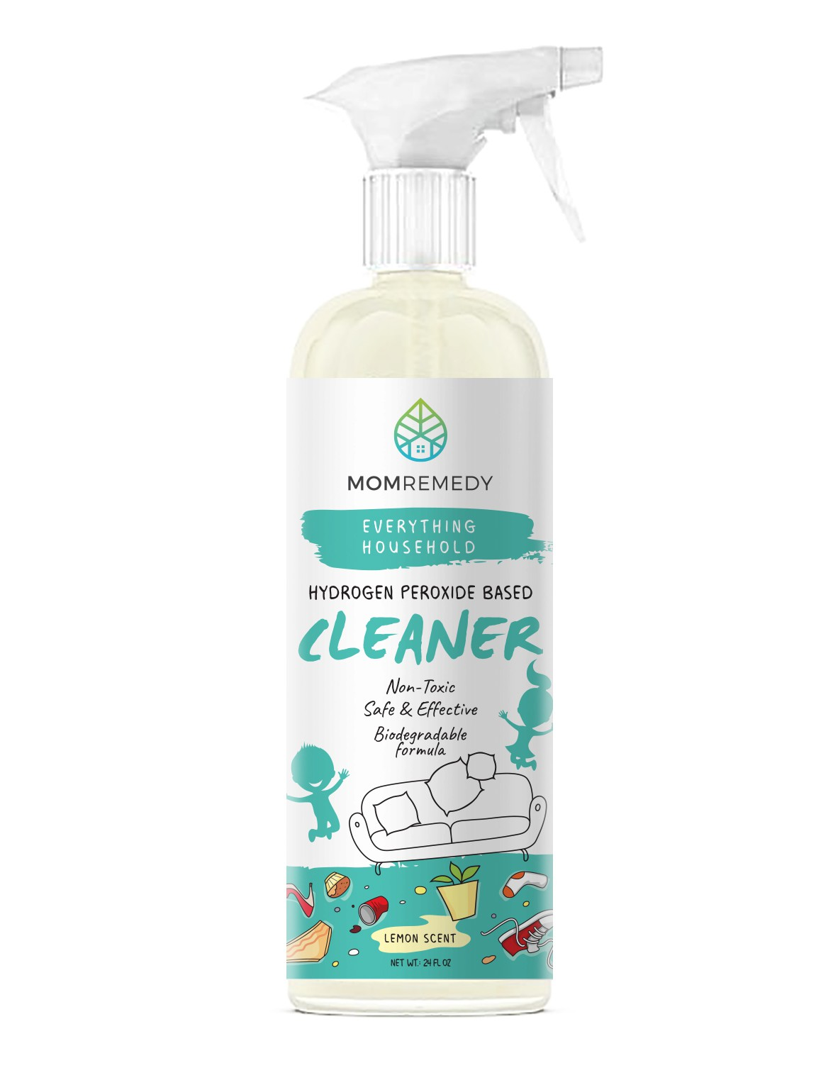 Label for a household cleaner