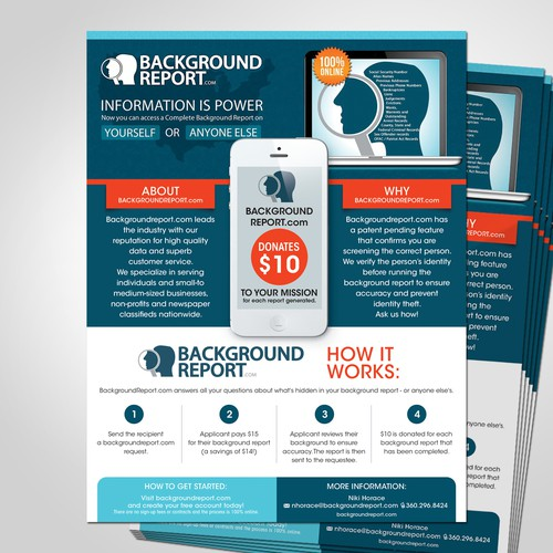 Help backgroundreport.com with a new postcard or flyer