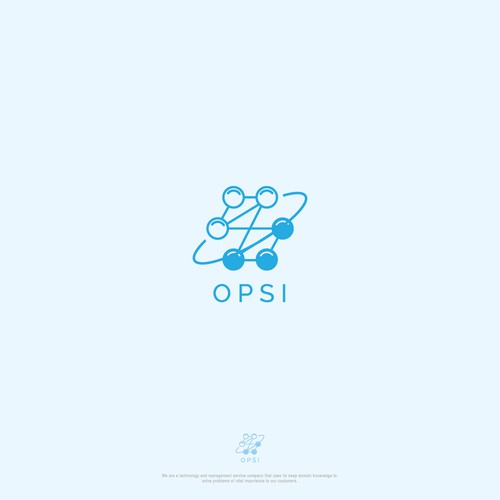Simple and clean logo concept for OnPoint Scientific, Inc. - OPSI