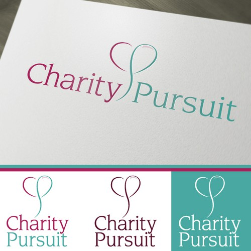 Inspiring logo for website that connects people with charities they love