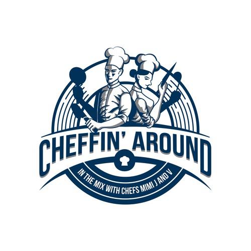 logo concept for cheffin around