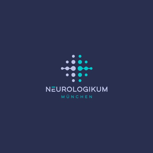 Brain Neuron Dots Logo