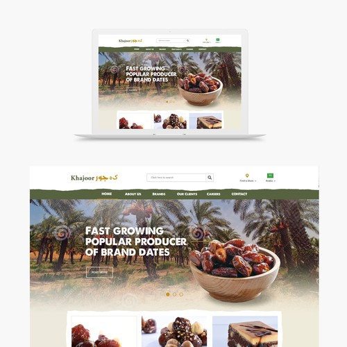 Creative Website for Khajoor