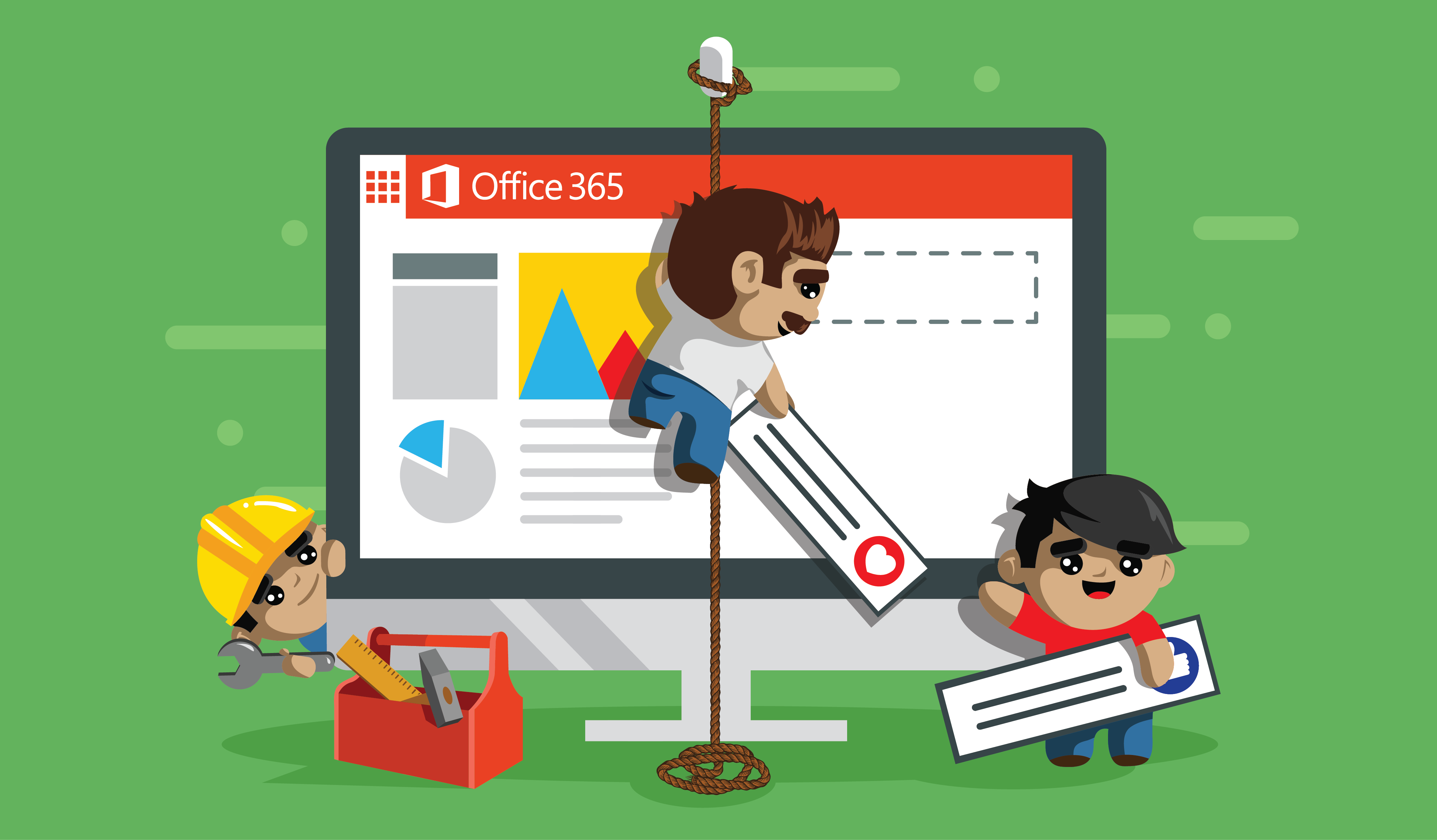 Create a comic-like banner for Office 365 blog posts