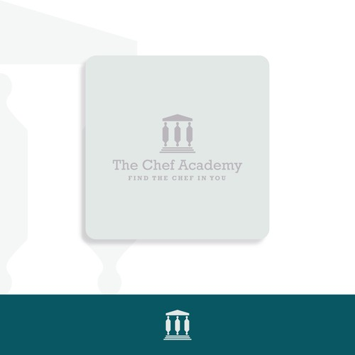 Iconic logo for chef school