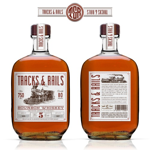 Classic, illustrative & elegant label design with 20th century locomotive/ train details for the Next Great Bourbon!
