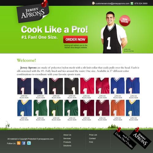 Web Design - Jersey Aprons