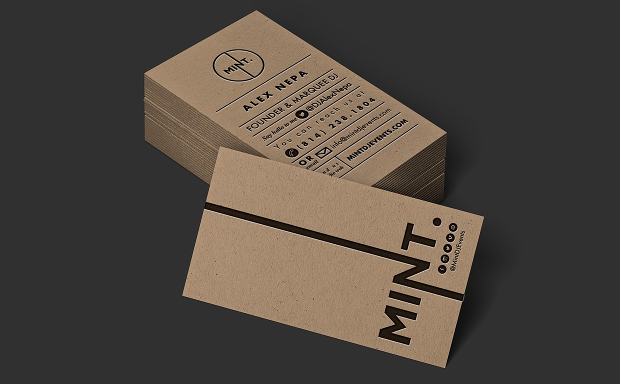 Business Card & Branding Design for Mint DJ Events