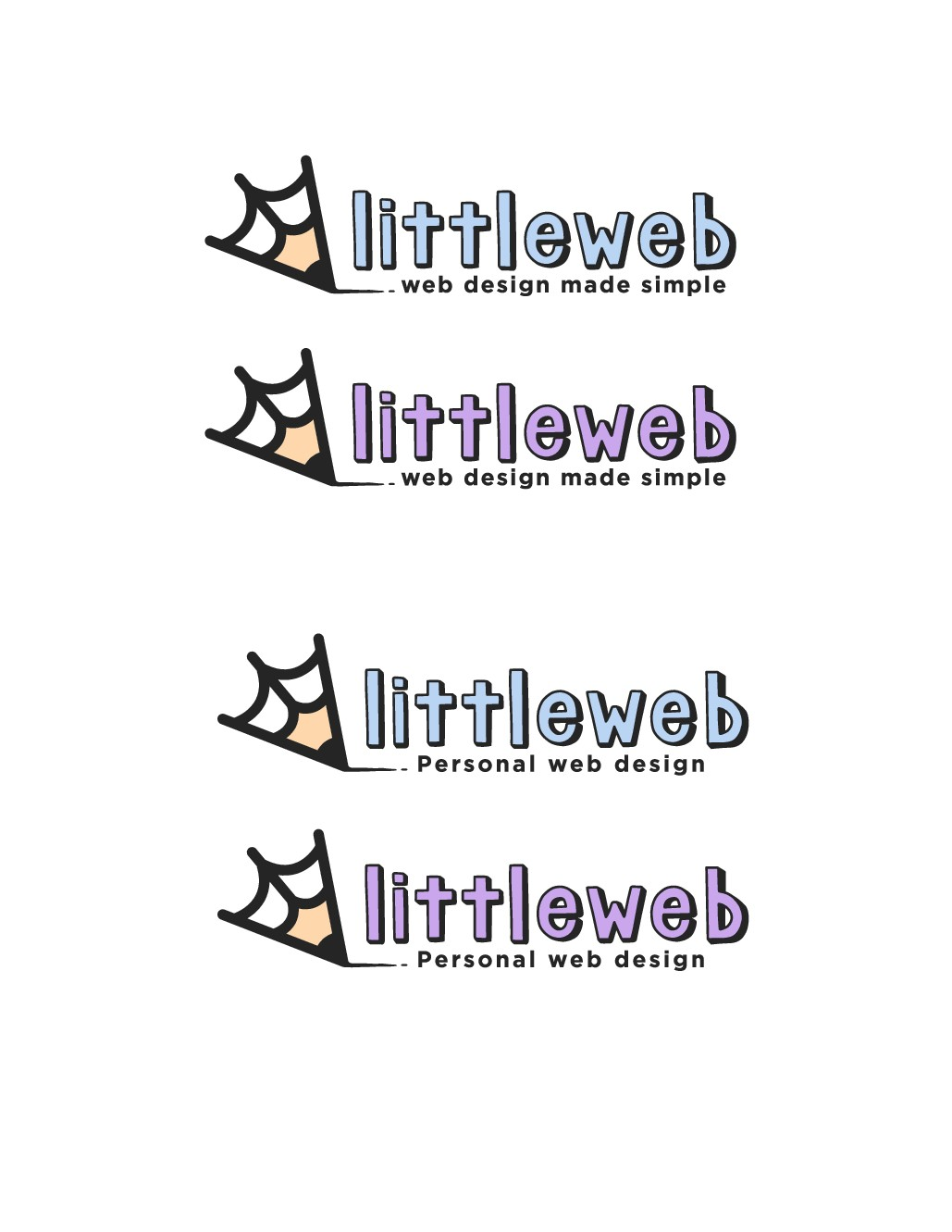 "Clever logo for web design business ""littleweb"""
