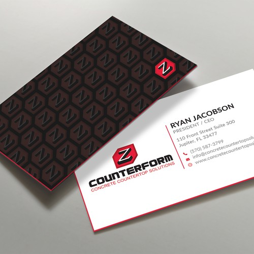 Business card design with Different pattern style
