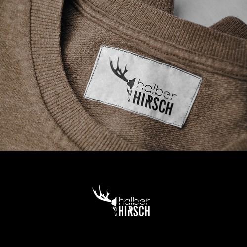 halber Hirsch Mode Label