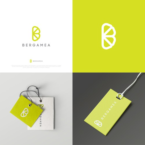 rejected logo proposal for BERGAMEA , a women brand fashion