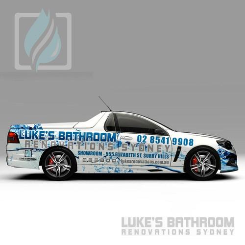 Total Car wrap for a Bathroom renovator