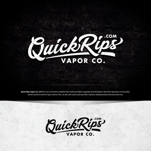 Quick Rips Vapor Co. (QRVC) Logo
