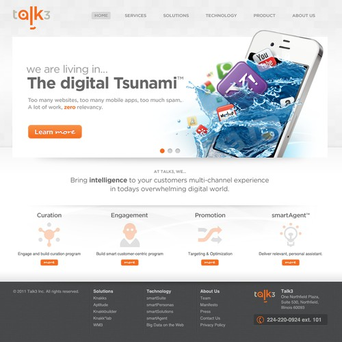 Website design for Talk3
